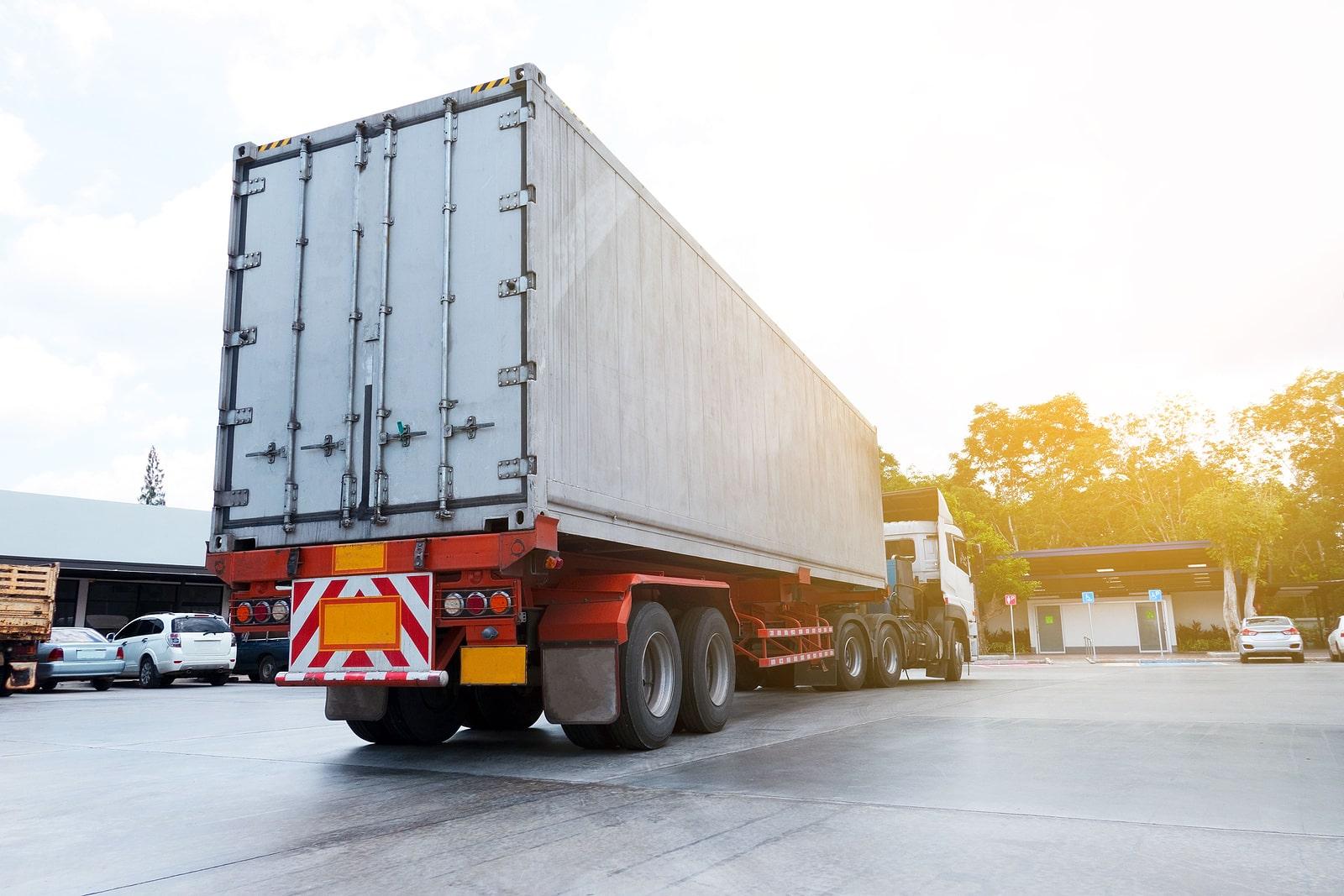 storage trailer with truck